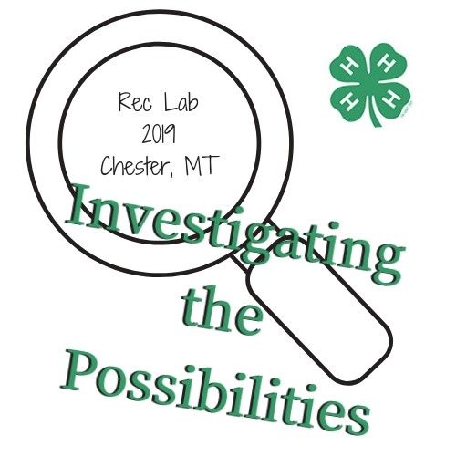 Montana 4-H rec lab logo for 2019: Investigating the Possibilities